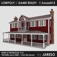 Lowpoly house - f_house012.rar