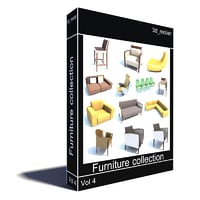 3ds furniture v4 chair sofa
