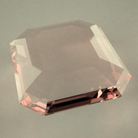 3d model gemstone emerald cut