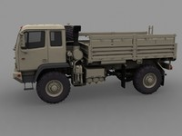 3d model of m1078 standard cargo truck