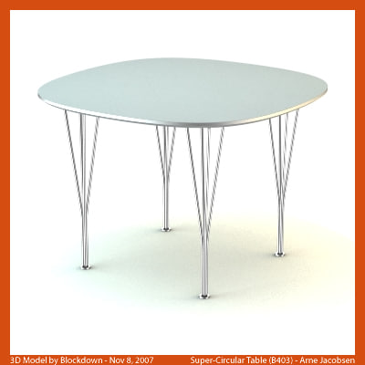 Arne jacobsen table max for Super table ld 99
