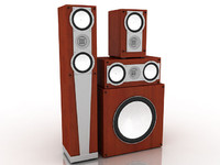 speaker set 3d model