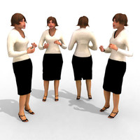 3d Model - Business Female #14a