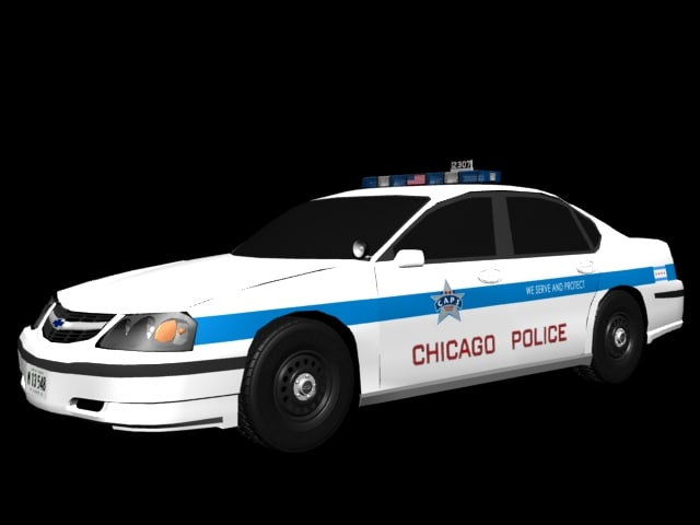 3d chevy impala chicago police car. Black Bedroom Furniture Sets. Home Design Ideas