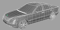 vehicle sedan 3d model
