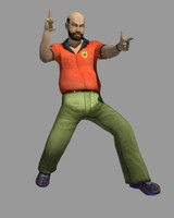 3d middle man model