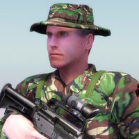 3d model of special forces soldier games