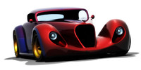 hot rod cars 3d model