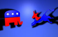3d democrat political party logos