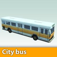 3d model city bus scene