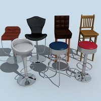 bar stools 3ds
