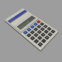 calculator digital 3d max