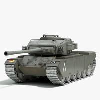 3dsmax british centurion tank ww2