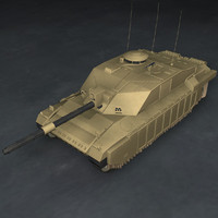 3d challenger 2 battle tank model