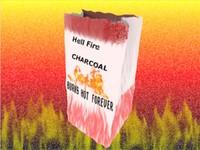 3d model of bag charcoal