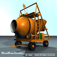 3ds max concrete mixer