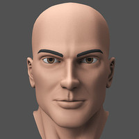 maya male hero character head