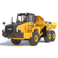 3d model articulated dump truck komatsu