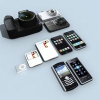3d product phones model