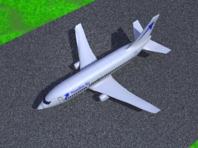 maya 737 windows airlines - textured 737 pack... by boommaster