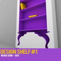 shelf vintage 3d model