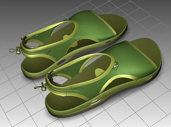 3ds max sandal