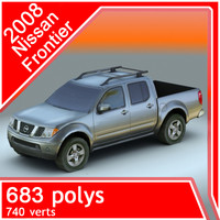 3d model 2008 nissan frontier