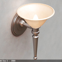 lamp sconce 3d 3ds