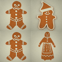 3d gingerbreads man woman