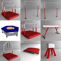 3dsmax gym equipments