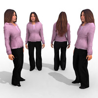 - business female 3d 3ds
