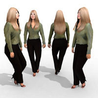 3d Model - Business Female #16