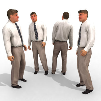 - business male max - 3d Model - Business Male #16a... by Got3d