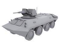 soviet btr 70 apc 3d model