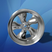 3ds max chrome rim wheel car