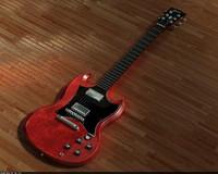 sg guitar 3d model