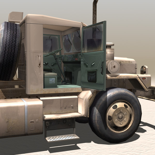 3ds military truck-low loader trucks - Military Truck-Low Loader... by 3D_Garden