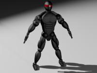 ninja robot 3d max