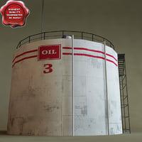 oil tank v2 3d model