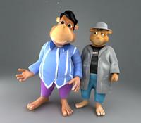 3d model bears character