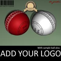 3d cricket ball model
