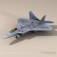 3dsmax f22 raptor f-22 fighter