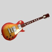 gibson les paul electric guitar 3d model