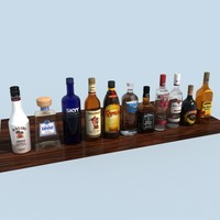 3ds max liquor bottles