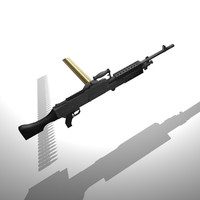 3d m240 machine gun bullet model