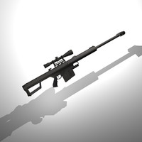 Barrett M82A1 Scoped rifle