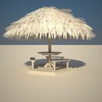 3d model parasol