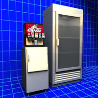 Soda Fountain and Refrigerator 01