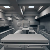 3d restaurant kitchen model