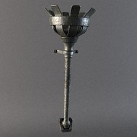 medieval iron torch light 3d max